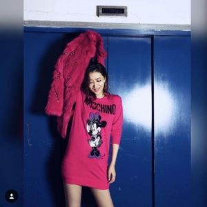 Moschino Dresses - MOSCHINO [tv] H&M Pink Merino Wool Minnie Mouse